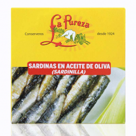 Little sardines in spicy olive oil